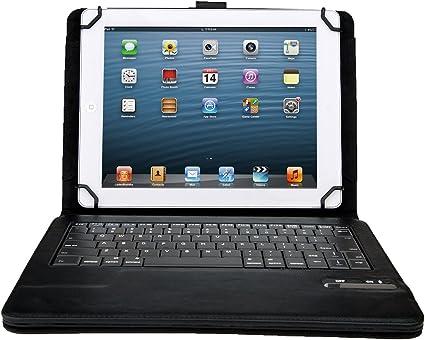 Acer Iconia Tab 10 A3-A30 10.1-Inch Teclado - IVSO Funda de Cuero con Teclado QWERTY Bluetooth para Acer Iconia Tab 10 A3-A30 Tablet (Negro)