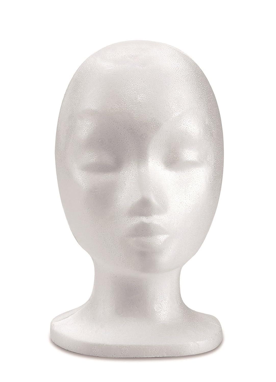 Glorex 63803741testa di polistirolo ragazza, polistirolo, Bianco, 18x 12x 4cm GLOREX GmbH 6 3803 741