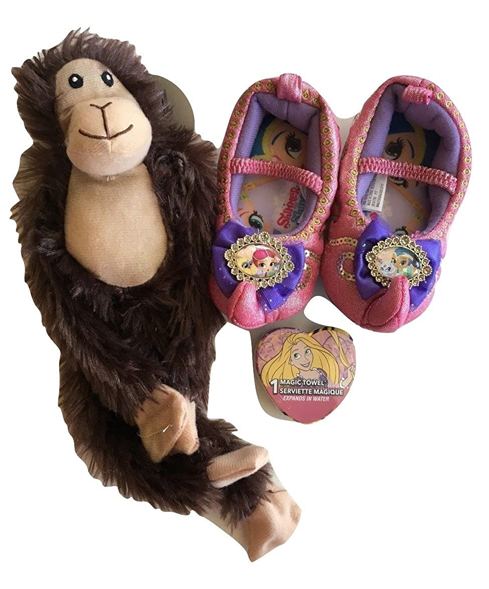 Girls Fun Bundle Include 1 Shimmer /& Shine Slippers,1 Princess Magic Towel and 1 Fuzzy Friends S . 5-6