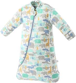 EsTong Unisex Baby Cartoon Whale Wearable Blanket Toddler Detachable Sleeves Sleepsack Cotton Nightgowns Sleeping Bag