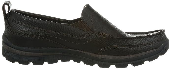 Superior Gains Herren-Leder-Slip On Schuhe - Schokoladen-BROWN-41.5 Skechers Auf Der Suche Nach Austrittskosten Verkauf Großer Verkauf SlWD81V6VI