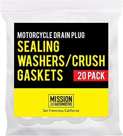 By Mission Automotive Compatible with DPWM14.223-10 Triumph Compatible with Most Models From Yamaha 20-Pack of Motorcycle Drain Plug Sealing Washers//Crush Gaskets Honda and More Suzuki