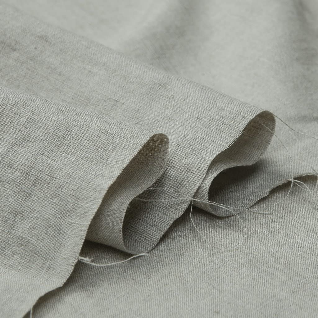"Japan Nature 100% Linen Fabric for Clothing, Home Decor, Pillow, Sofa, 56"" Width, Craft by The Yard, Natural Linen Color"