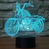 Motocross 3d Night Light, Dirt Bike Illusion Hologram Bedside Lamp Led 7 Color Changing, Bedroom Decor Cool Birthday Gift for