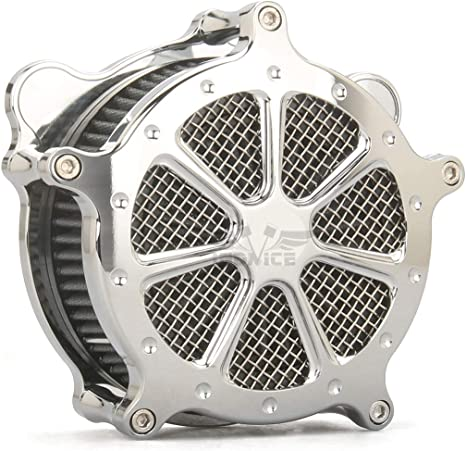 All Chrome Air Cleaner Intake Filter For Harley Touring 93-07 Dyna Softail 93-15