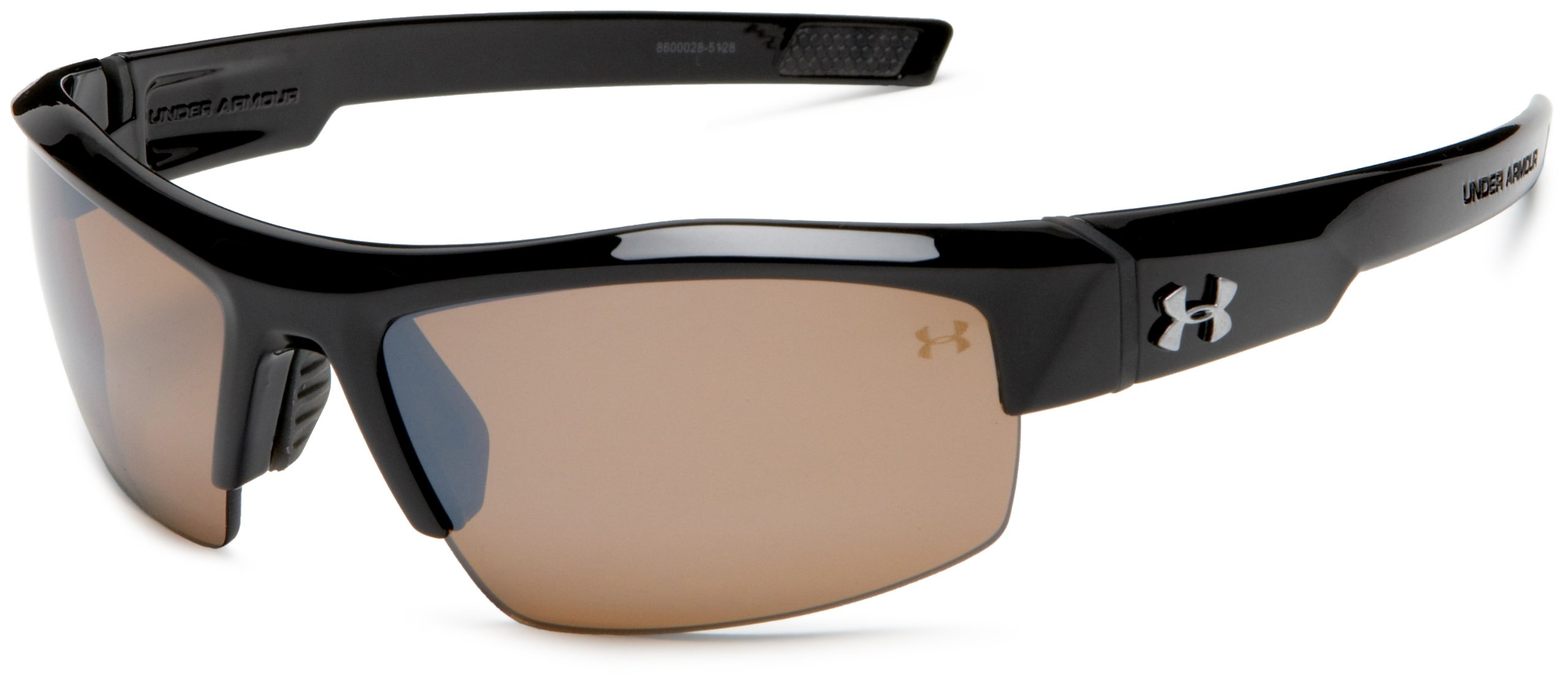 Under Armour Igniter Polarized Multiflection Sunglasses, Shiny Black Frame/Brown Lens, one size