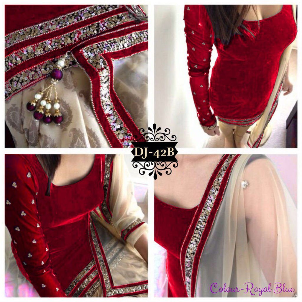 Liva Fashion Designer Velvet Net Black Color Semi Stitched Salwar Suit By Liva Amazon In Clothing Accessories