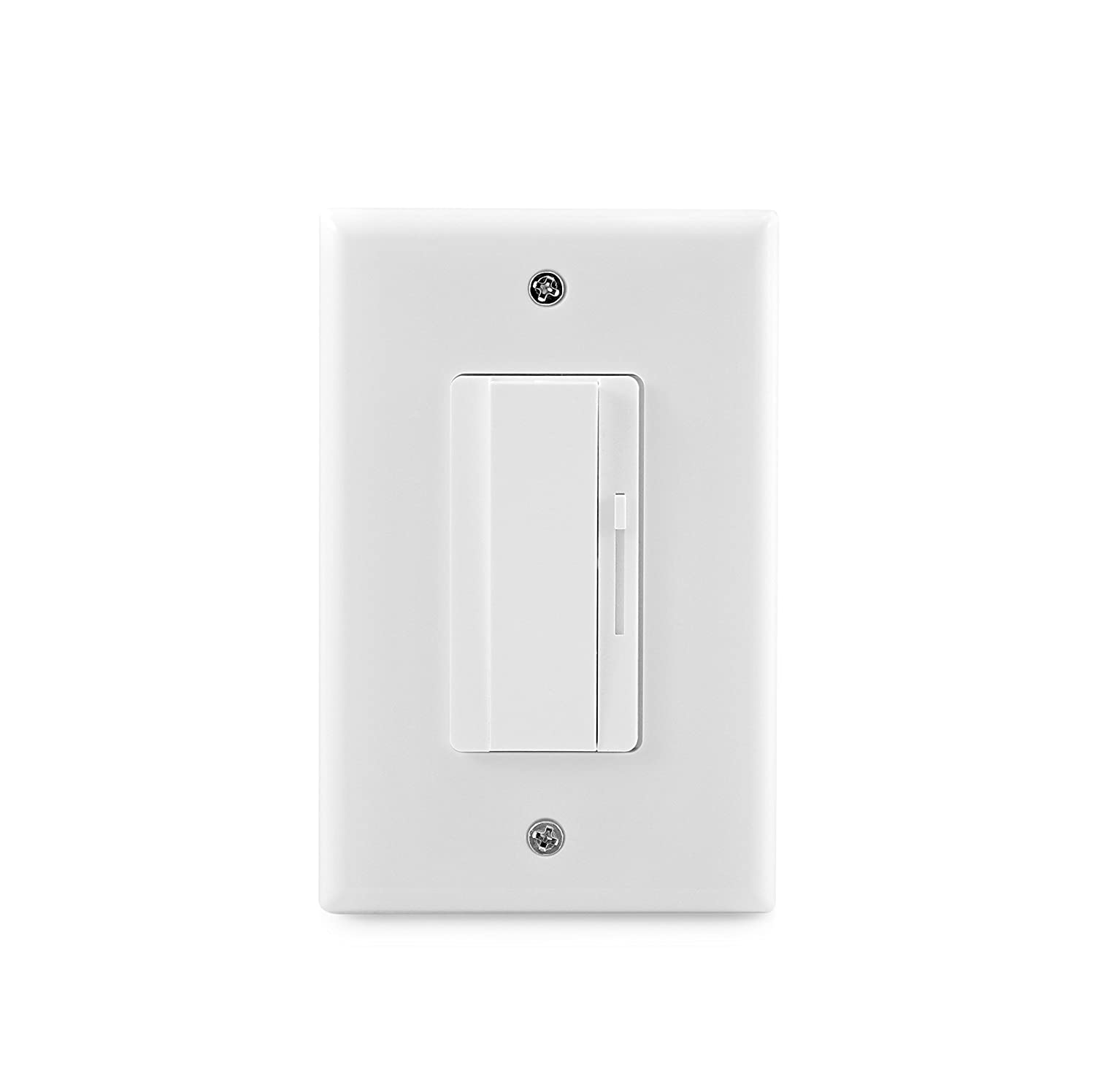 Hyperikon Led Dimmer Switch 3 Way Wall Single Pole Rocker And Flickering Slide Light 150w Cfl 700w Incandescent Halogen Fixtures White