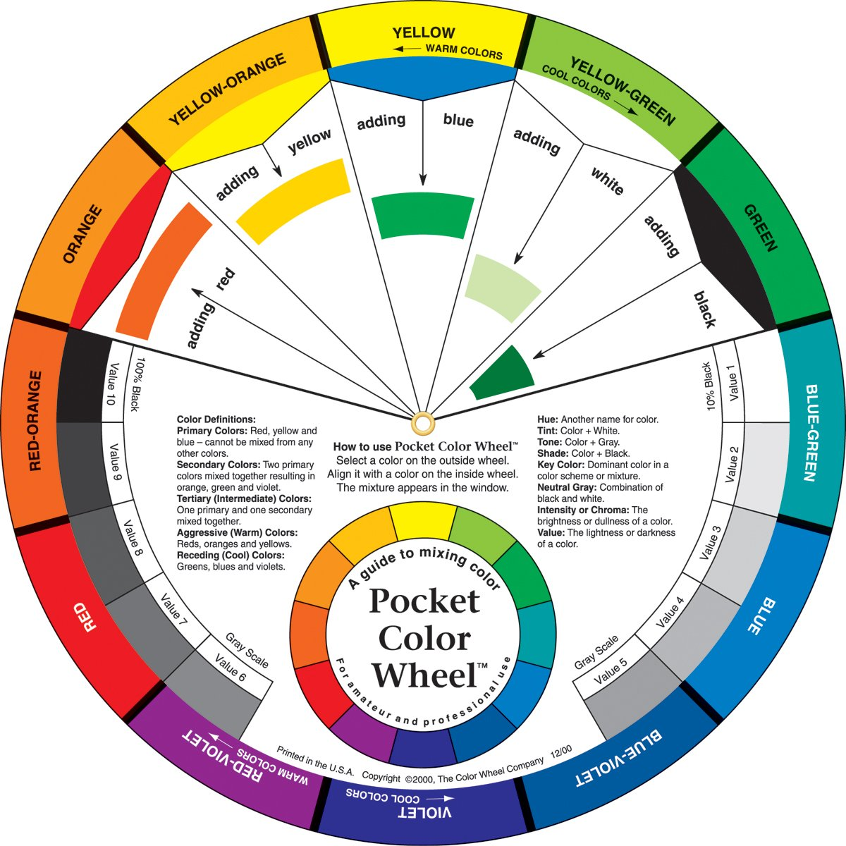 Amazon Color Wheel Small Mixing Guide 3501 Art Paints Office Products
