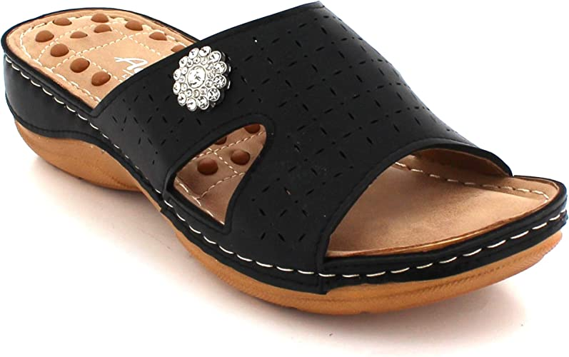 Women Ladies Cushioned Footbed Single