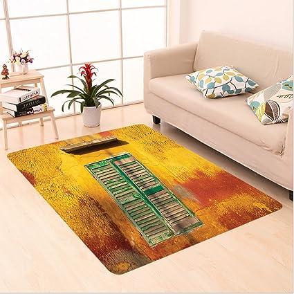 Amazon Com Nalahome Custom Carpet Ion Wooden Window And Old Vintage