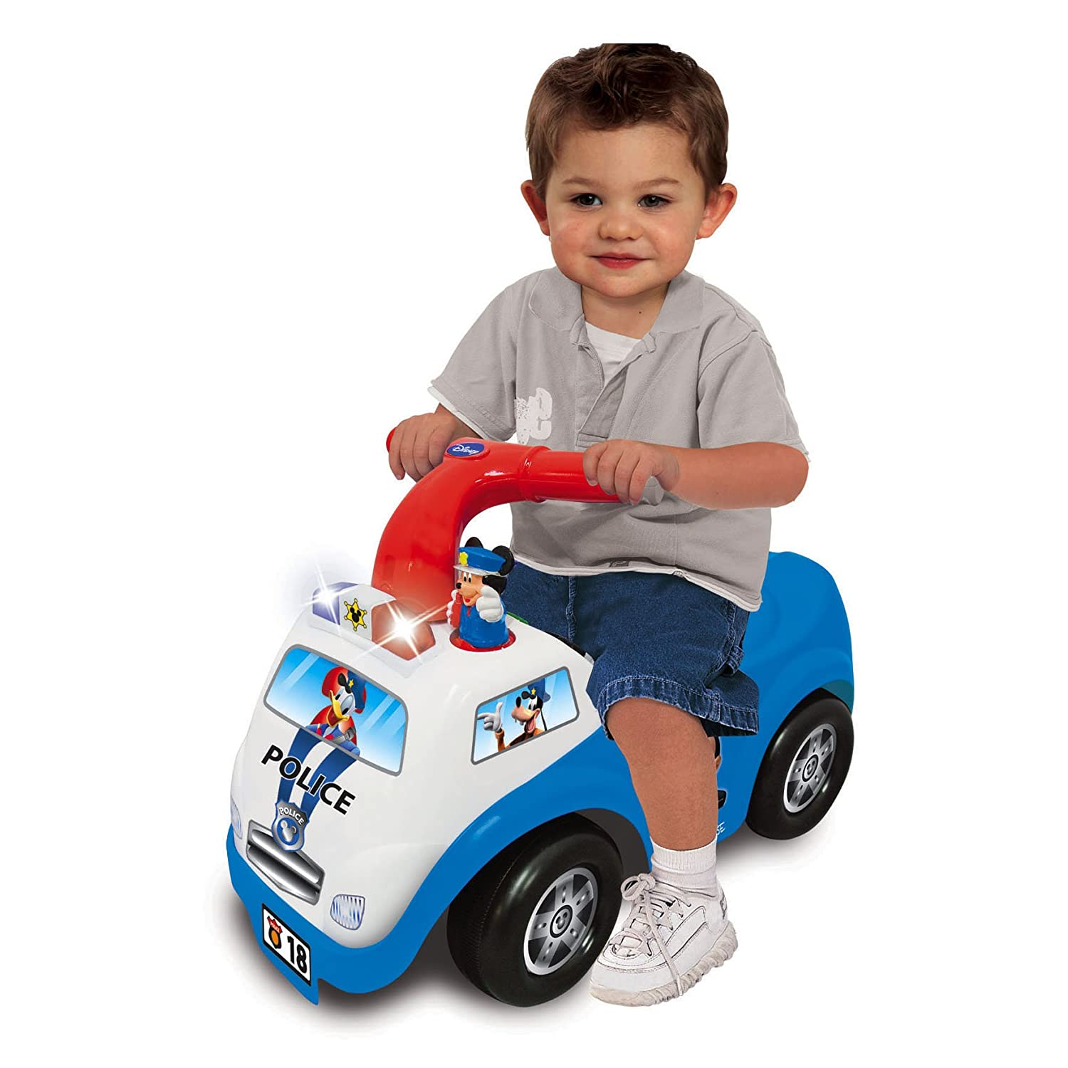 Amazon Kid land Disney Mickey Mouse Police Drive Along Ride