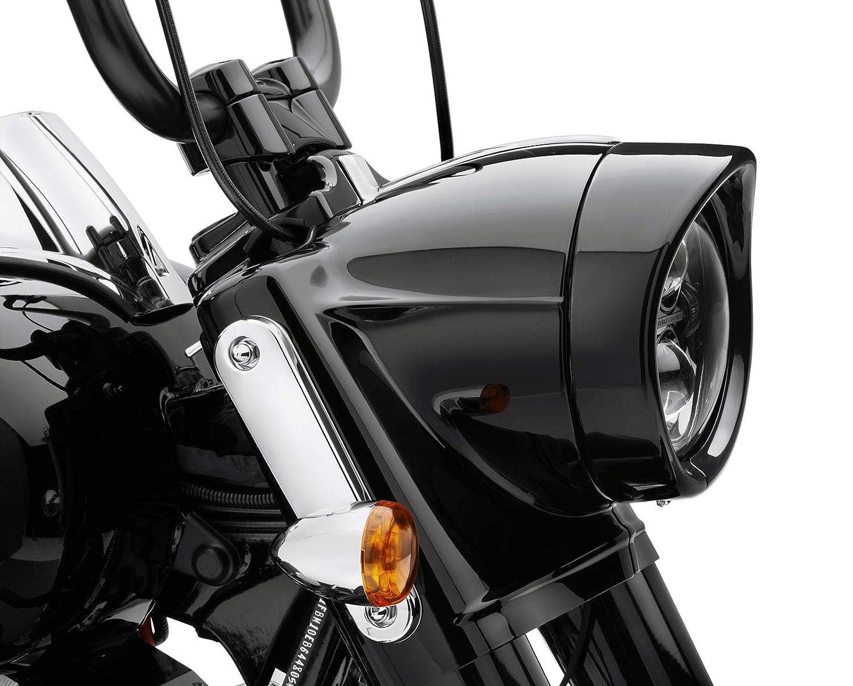 NTHREEAUTO 7 Headlight Trim Ring Black Headlamp Visor Motorcycle Headlight Decorate Ring Compatible with Harley Davidson Softail Road King Touring Bikes Black