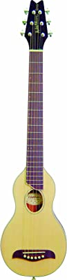 Washburn RO10 Rover Steel String Travel Acoustic Guitar - Natural) - Best Acoustic Guitar