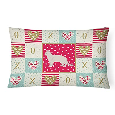 Caroline's Treasures CK5549PW1216 American Shorthair #2 Cat Love Canvas Fabric Decorative Pillow, 12H x16W, Multicolor : Garden & Outdoor