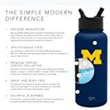 Simple Modern Michigan Wolverines 32oz Summit Water Bottle with Straw Lid - Mens Womens Gift University NCAA College Vacuum Insulated Stainless Steel Travel Flask