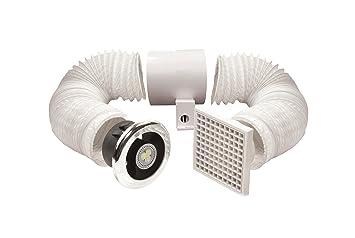 Captivating Manrose 100mm LED Shower Light/ Extractor Fan