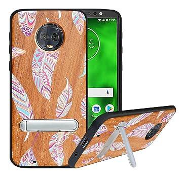 HHDY Funda de Madera para Motorola Moto G6, Carcasa ...