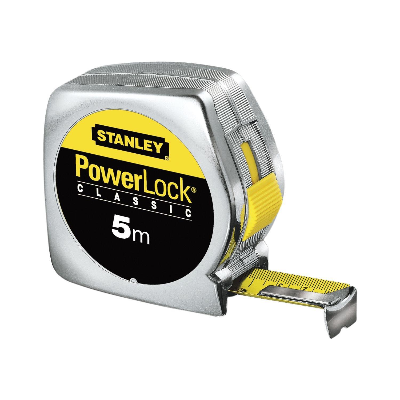 5m STANLEY 0-33-194 Flessometro-Metro a Nastro Powerlock