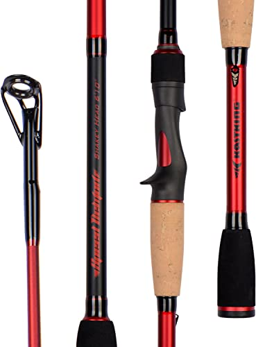 KastKing Speed Demon Bass Fishing Rod Series, Spinning Rod Casting Rod Models in 11 Technique Specific Lengths Actions – Fuji Guides Reel Seats, Dimensional 16 High Modulus 1 Pcs Carbon Blanks