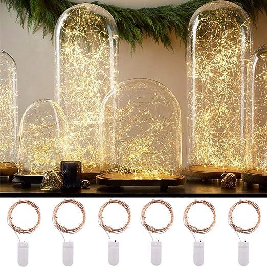LED Energia Solare filo di rame Lucine Lampada Decorazione Festa Matrimonio UK