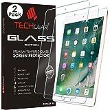 TECHGEAR® [2 Pack] Nouvel iPad 9.7 Pouces Verre, Protecteur d'Écran Original en Verre Trempé Compatible pour Apple iPad 9.7 Pouces (2017 & 2018)