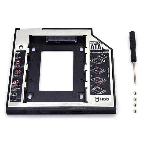 hitechway cajas de disco duro SSD Caddy bandeja, 12,7 mm SATA 2 nd ...