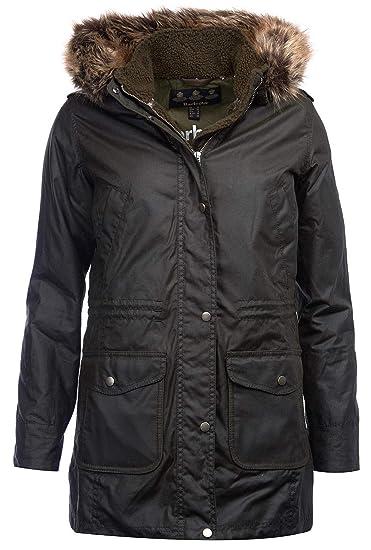 185f5946c92 Barbour Women's Bridport Waxed Hooded Jacket, Fern Size UK 16 ...