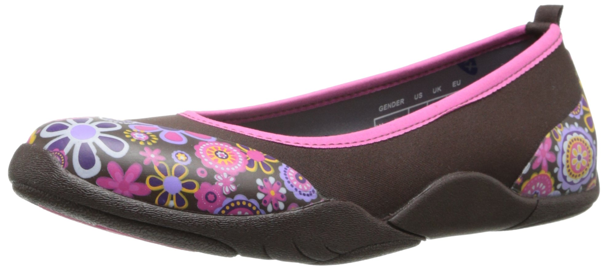 MuckBoots Women's Breezy Slip-On,Brown/Floral,8 M US