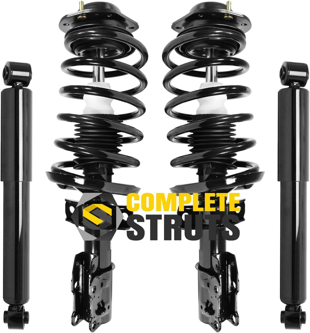 Front Quick Complete Strut Assemblies /& Rear Bare Shock Absorbers Compatible with 2007-2009 Pontiac G5 Set of 4