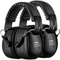 Mpow Ear Protection 2 Packs, NRR 28dB Professional Ear Defenders with a Carrying Bag, Foldable Noise Reduction Safety…