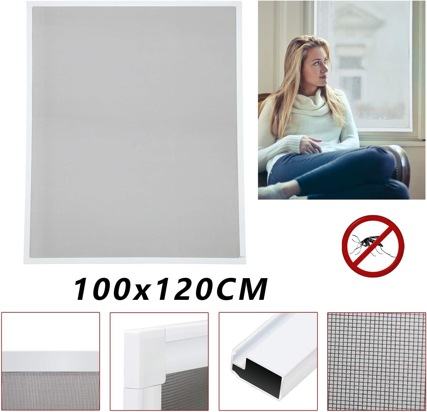 moustiquaire fenetre anti moustique Protection contre insectes Amovible salle de séjour(100x120CM)