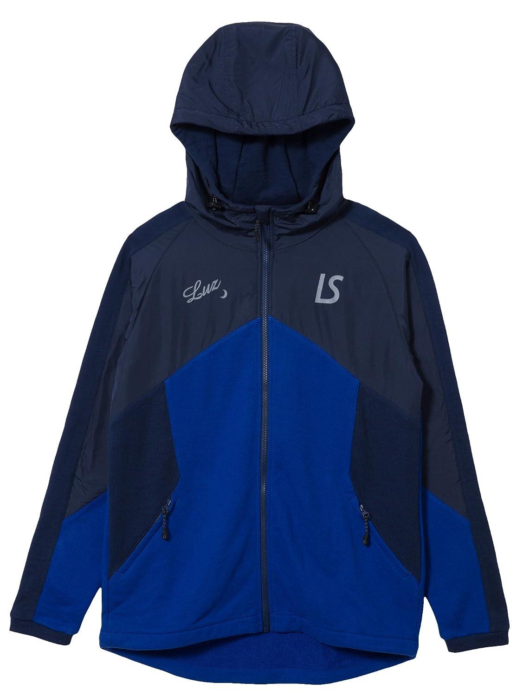 LUZeSOMBRA(ルースイソンブラ) HYBRID SWEAT FULLZIP JACKET F1811105 B07BVP3BLC L|ネイビー/ブルー ネイビー/ブルー L