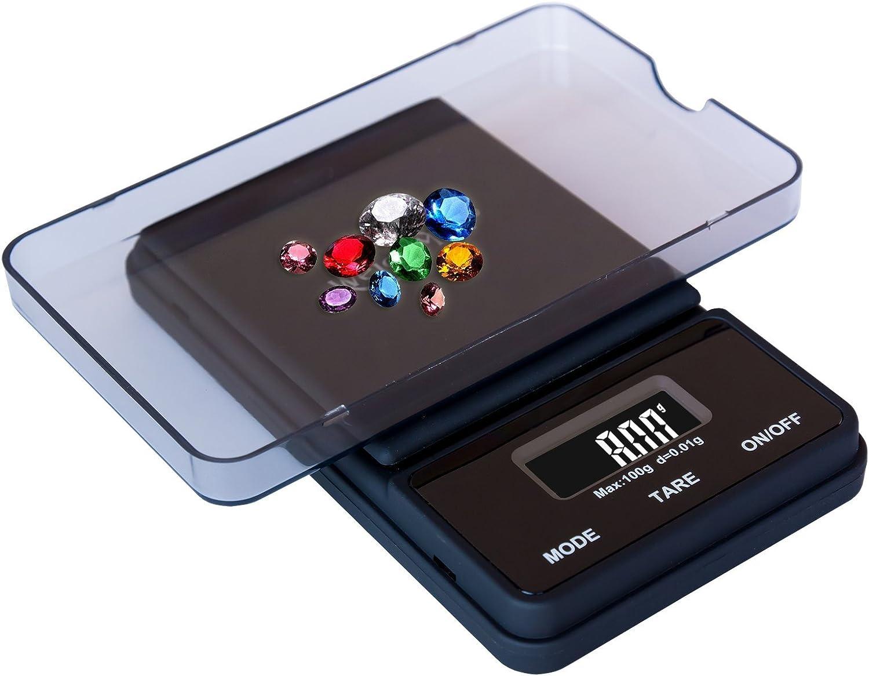Weighmax NJ100-BLACK Dream Series Digital Pocket Scale, 100 by 0.01 g, Black