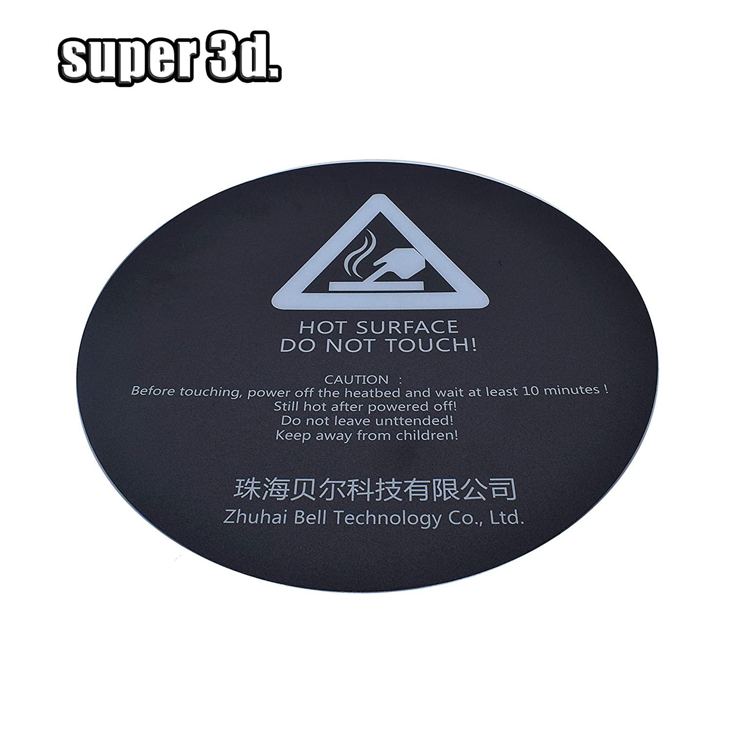 200mm Build Plate Surface Heat Bed Sticker Sheet w// Adhesive for 3D Printer TW