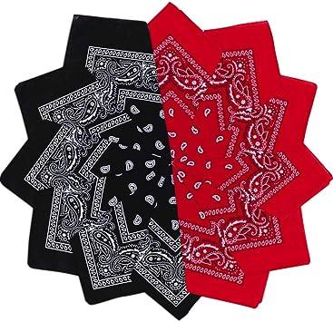 Pañuelo Bandanas, 12 piezas Paisley Multicolor bandanas, algodón de cabeza cuello bufanda, Paisley Multicolor bandanas, bufanda por la cabeza unisex para cabello, cuello, deportes, ciclismo: Amazon.es: Deportes y aire libre
