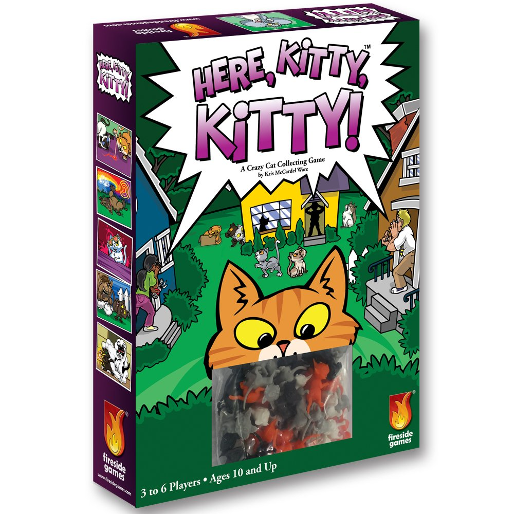 Fireside Games Here Kitty Kitty Board Game - Board Games for Families - Board Games for Kids 7 and up