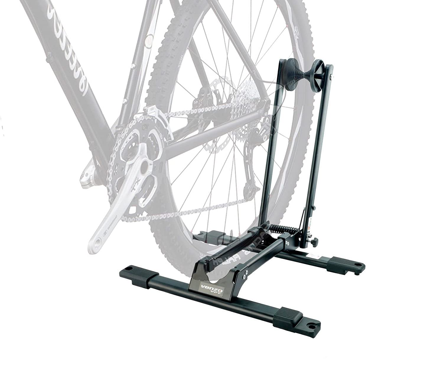 Bike Bicycle Deluxe Storage Double Supporter Floor Stand Rack by Venzo   B011NJ397C