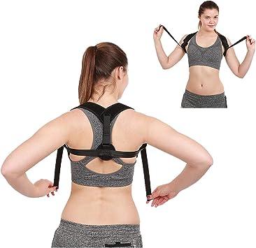 Faja de corrección postural, soporte recto, espalda del hombro ...