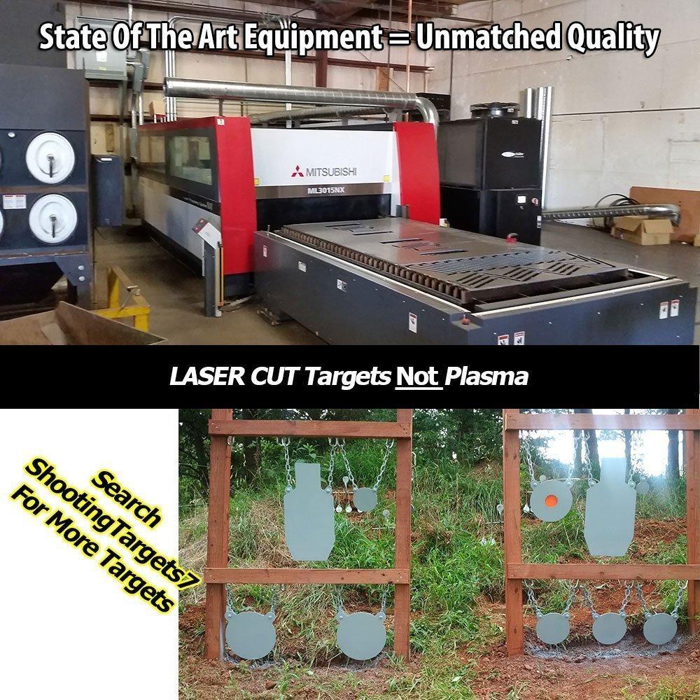 AR500 Steel Gong Target 24''x24''x3/8'' by ShootingTargets7 (Image #6)