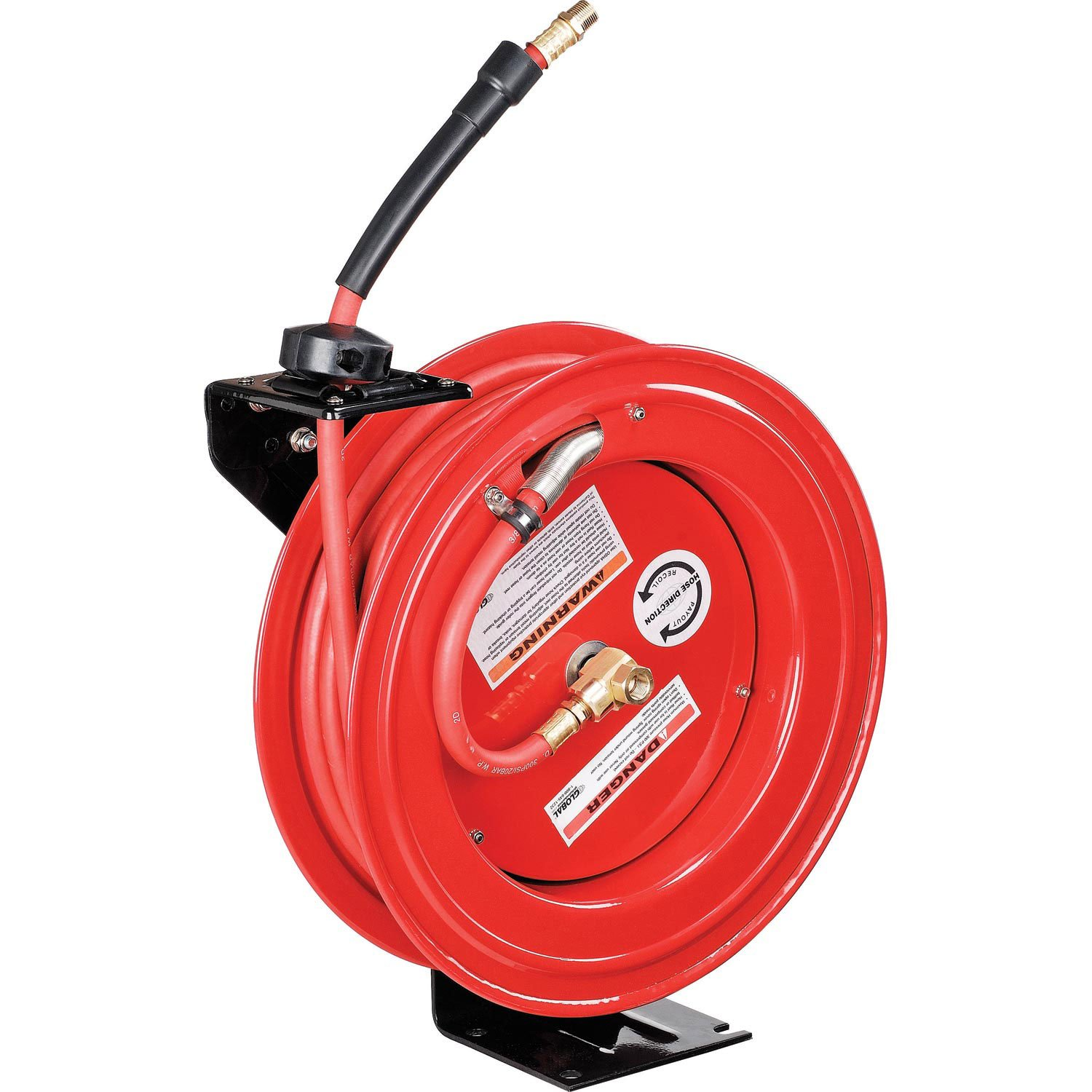 Industrial Grade Retractable Reel, 3/8''x 50' Hose, 300 PSI by Global Industrial
