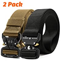 Fairwin Tactical Belt, 2 Pack 1.5 Inch Military Tactical Belts for Men - Carry Tool...