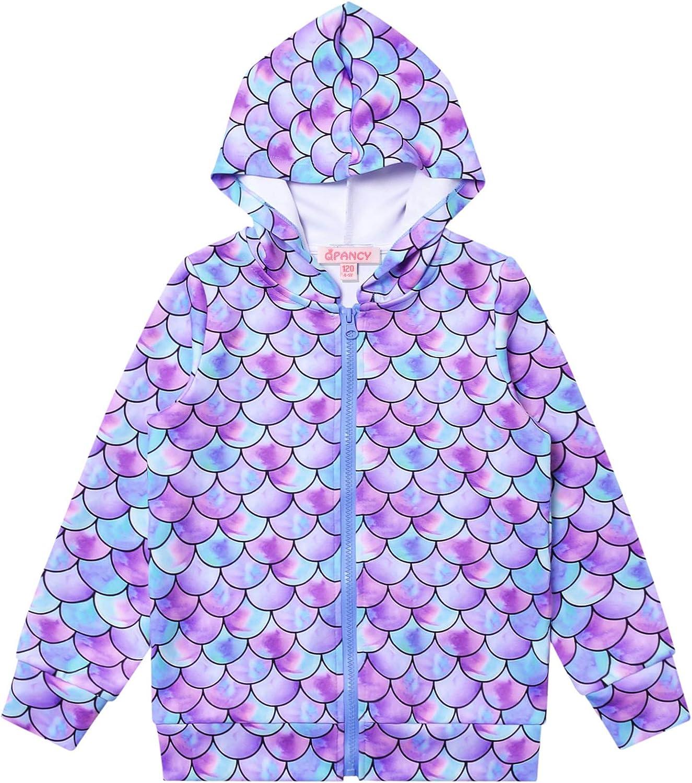 Girls Hoodie Unicorn Jacket Zip Up Sweatshirt Clothes with Pockets