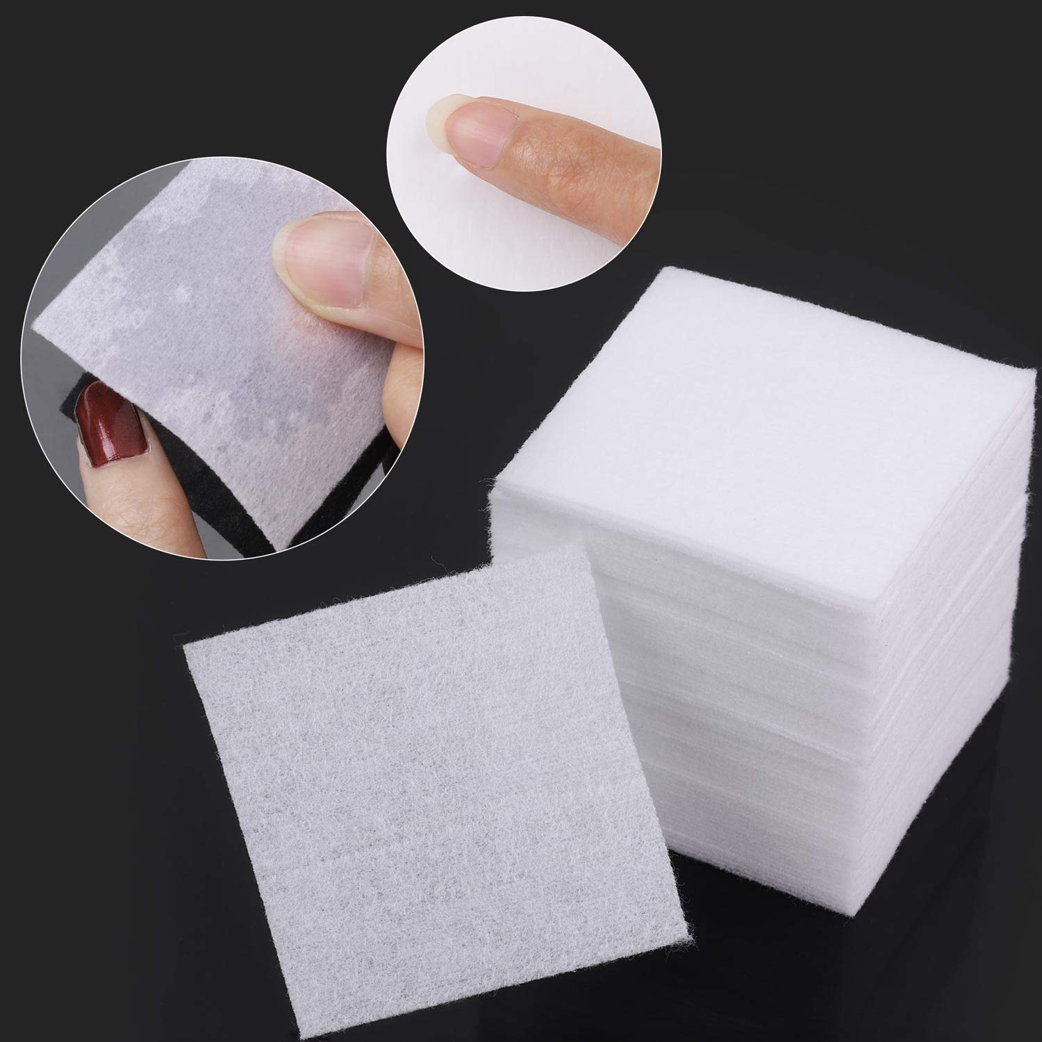 960 pcs Lint Free Nail Wipes Cotton Pads Remover to Soak Off Acrylic Gel Nail Polish with Pumb Bottle Dispenser and 1 Cuticle Pusher : Beauty