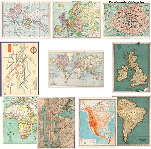 """24/"""" x 6/' Vintage French Post Card Travel Poster Gift Wrap Wrapping Paper"""
