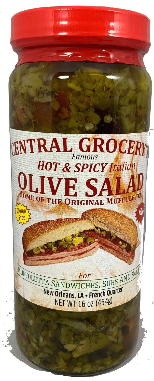 Central Grocery Hot & Spicy 16 Ounce Olive Salad (1 Jar)