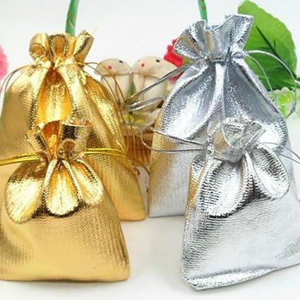 Naisicatar Pochette Joyero bolsita Funda de Tela Bolsa Regalo Joyas Bolsa para Caramelos Regalo Joyas Fiesta de cumpleaños Bolsas de Joyas Party Pro ...