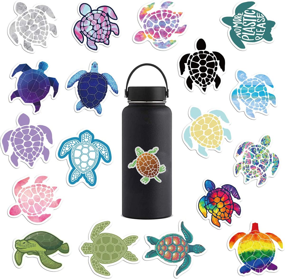 41 Pcs Stickers Cute Sea Turtle Waterproof Vinyl Sticker Pack for Hydro Flask Water Bottle and Office Laptop - Suitable for Kids Girls Teens Women(Sea Turtle)
