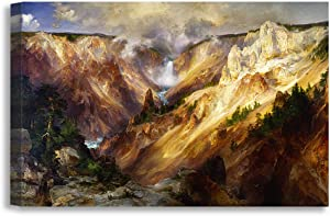 DECORARTS -Grand Canyon of The Yellowstone, Thomas MoranClassic Art Reproductions. Giclee Canvas Prints Wall Art for Home Decor 36x24
