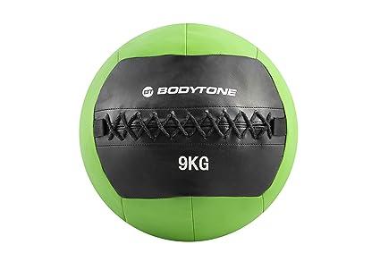 BT BODYTONE Soft Wall Ball de 9kg. Balón Medicinal de Color Verde ...
